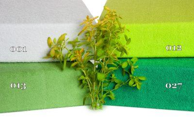zelene frote prestieradla